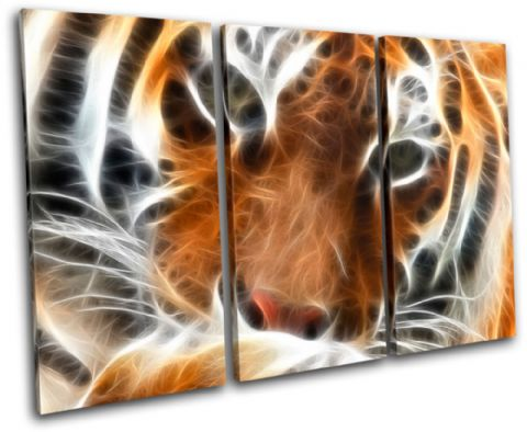 Tiger Fractal Orange Animals - 13-0037(00B)-TR32-LO